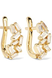 Suzanne Kalan 18 Karat Gold Diamond Earrings