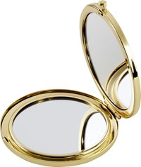 Cb2 Look At You Gold Compact Mirror