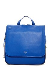 Fossil Preston Leather Backpack Blue