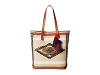 Sam Edelman Thea Tribal Beaded Tote Natural Tote Handbags Beige