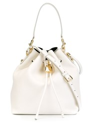Dolce And Gabbana Bucket Shoulder Bag White