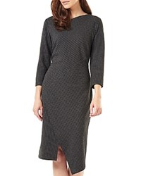 Phase Eight Pinstripe Dress Gray