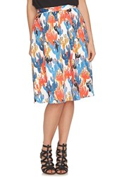 Women's Cece By Cynthia Steffe 'Cactus Sketches' Print Full Skirt