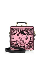 Olympia Le Tan Happiness Embroidered Shoulder Bag Light Pink