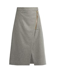 Acne Studios Panna Zip Up A Line Skirt Grey