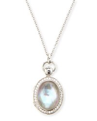 Monica Rich Kosann Petite Oval Rock Crystal Locket Necklace