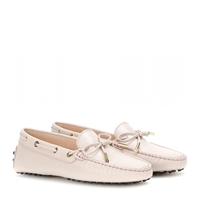 Tod's Heaven New Laccetto Leather Loafers Baby Pink