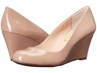 Jessica Simpson Sampson Nude Patent Women's Wedge Shoes Beige