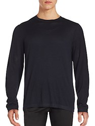 Strellson Solid Relaxed Fit Merino Wool Sweater Navy