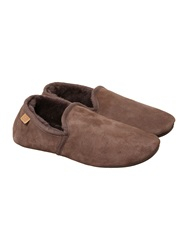 Just Sheepskin Closed Back Classic Garrick Slipper Chocolate