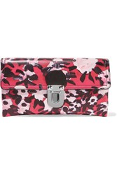 Marni Printed Leather Clutch Red