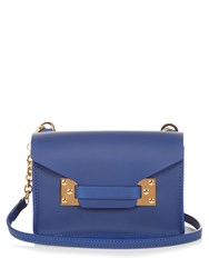 Sophie Hulme Milner Nano Envelope Leather Cross Body Bag Blue