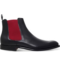 Barker Hopper Leather Chelsea Boots Black