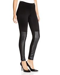 French Connection Hells Leather Panel Leggings Black
