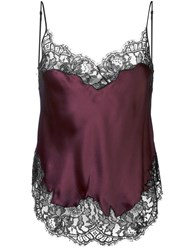 Givenchy Two Tone Lace Trim Camisole Pink And Purple