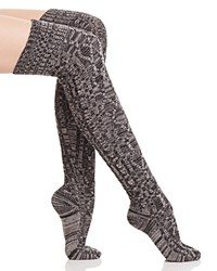 Ugg Classic Cable Knit Over The Knee Socks Charcoal Heather