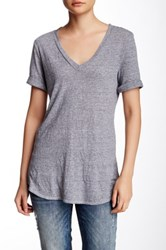Lanston V Neck Tee Gray