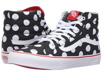 Vans Sk8 Hi Slim Polka Dot Black Fiery Red Skate Shoes