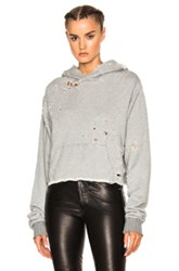 Amiri Shotgun Cropped Hoodie In Gray