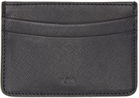 A.P.C. Black Leather Card Holder