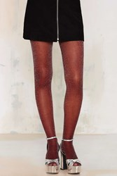 Nasty Gal Look From London Glam Squad Tights Wine