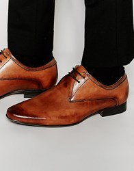 Frank Wright Smart Derby Shoes In Tan Leather Tan