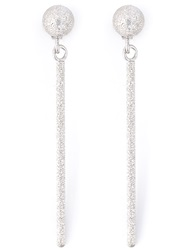 Carolina Bucci 'Mirador' Sparkly Stud Drop Earrings Metallic