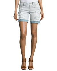 Miss Me Mid Rise Distressed Denim Shorts Lt 98