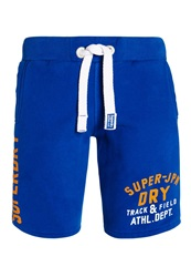 Superdry Track And Field Jersey Short Blue