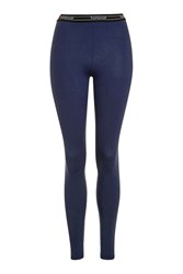 Topshop Elastic Leggings Navy Blue