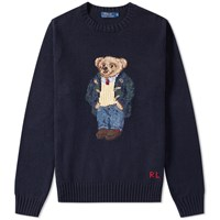 Polo Ralph Lauren Preppy Bear Crew Knit Blue