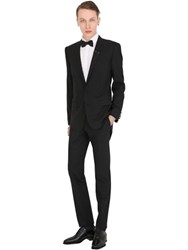 Dolce And Gabbana Bee Crest Stretch Wool Martini Suit
