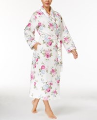 Charter Club Satin Trimmed Quilted Wrap Robe Only At Macy's Rose Bouquet