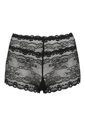 Topshop Cordelia High Waisted Knickers Black