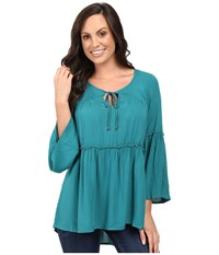 Scully Honey Creek Veronica Top Green Women's Clothing