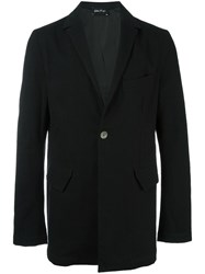 Andrea Ya'aqov Notched Lapel Coat Black