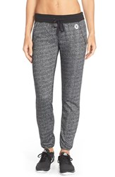 Women's Hurley Dri Fit Fleece Pants Heather Black And Black