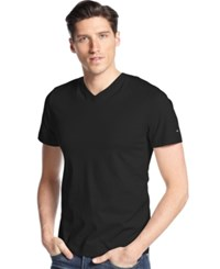 Tommy Hilfiger Big And Tall Elmira V Neck T Shirt Tommy Black