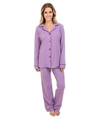 Bedhead Classic Stretch Pj Purple Heathered Women's Pajama Sets