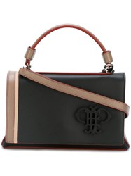 Emilio Pucci Panelled Satchel Bag Black