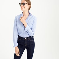 J.Crew Petite Boy Shirt In End On End Cotton