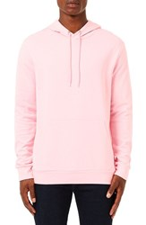 Topman Men's Classic Fit Cotton Hoodie Pink