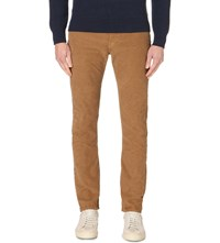 Paul Smith Straight Fit Corduroy Jeans Tan