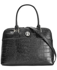 Giani Bernini Croc Embossed Dome Satchel Only At Macy's Black