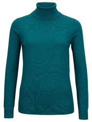 Planet Knitted Roll Neck Top Teal
