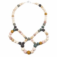 Hring Eftir Hring Ballerina Necklace Rocky Beach Grey Pink Purple