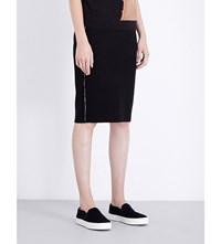 Opening Ceremony Esprit Checked Reversible Knitted Skirt Blk Wht