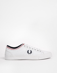 Fred Perry Kendrick Tipped Cuff Plimsolls White