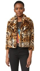 Mother The Boxy Crop Jacket Leopard