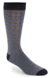 Ted Baker Men's London Dot And Stripe Pattern Organic Cotton Socks